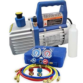 8: F2C 4CFM 1/3 HP Air Vacuum Pump HVAC Refrigeration KIT