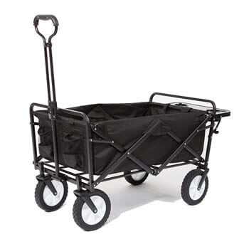 7: Mac Sports Collapsible Folding Outdoor Utility Wagon with Side Table – Black