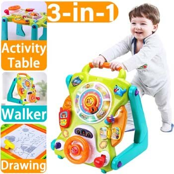 9: iPlay, iLearn Baby Sit to Stand Walkers Toys