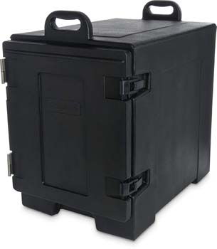 1: Carlisle PC300N03 Cateraide End-Loading Insulated Food Pan Carrier, 5 Pan Capacity, Black
