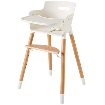 3: AshtonbeeWooden High Chair for Babies and Toddlers