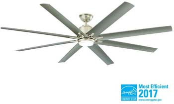 3. Home Decorators Collection Kensgrove 72 in. LED Indoor/Outdoor Brushed Nickel Ceiling Fan