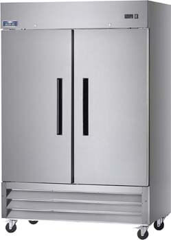 1. Arctic Air AF49 Two Section Reach-in Commercial Freezer - 49 cu. ft.