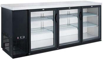 2. Dukers DBB72-H3 19.1 cu. ft. 3 Door Bar and Beverage Cooler, Hinge Doors