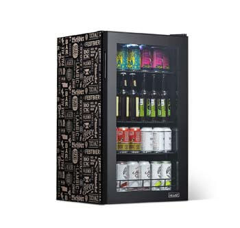 5. NewAir Beverage Cooler and Refrigerator, Mini Fridge with Glass Door