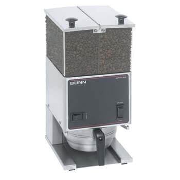9. BUNN LPG2E Low Profile Portion Control Grinder with 2 Hoppers