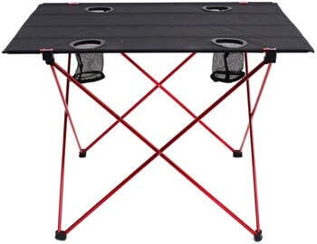 10. Outry Lightweight Folding Table with Cup Holders, Portable Camp Table