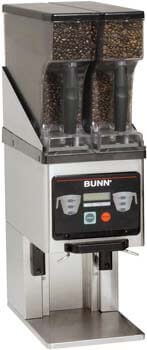 10. BUNN 35600.0020 Multi-Hopper Coffee Grinder & Storage System, Black/Stainless