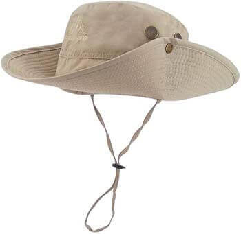 4. LETHMIK Outdoor Waterproof Boonie Hat Wide Brim Breathable Hunting Fishing Safari Sun Hat