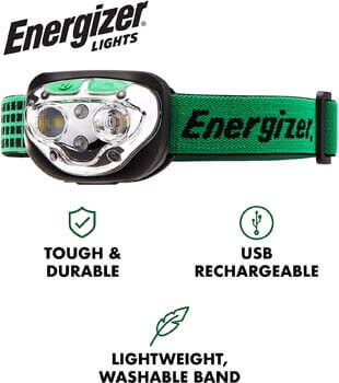 6. Energizer VISION LED Headlamp Flashlight