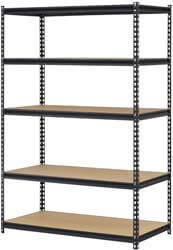 10. DSAL URWM184872BK Black Steel Storage Rack