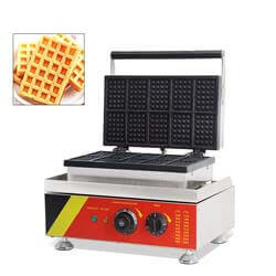 8. Hanchen Rectangle Waffle Maker Machine Square