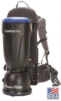 7. Powr-Flite BP6S Comfort Pro Backpack Vacuum, 6 Quart Capacity