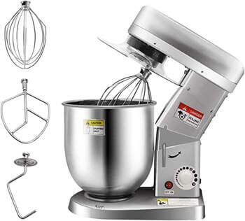 7. Huanyu Commercial Stand Mixer 10QT Electric Dough Blender with Stainless Steel