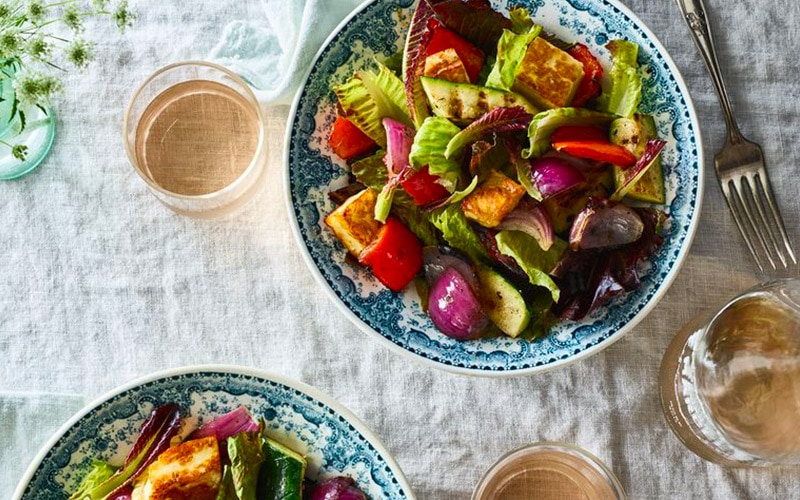 Colorful and healthy salad