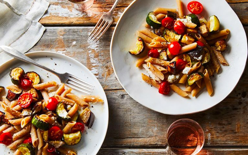 A healthy Pasta dish with vegetables