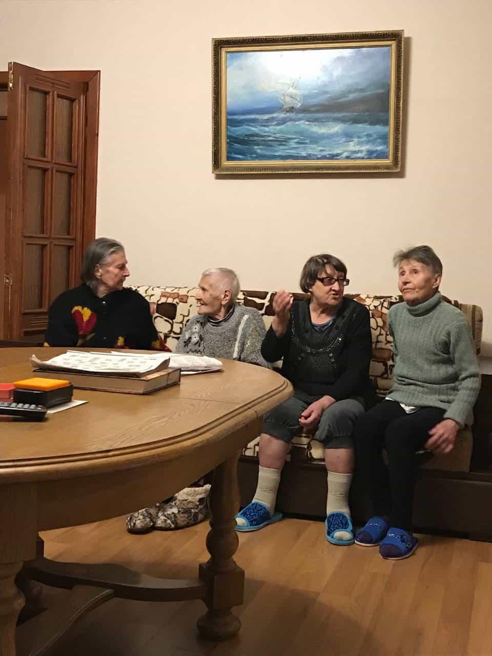 Общение в доме престарелых в Минске