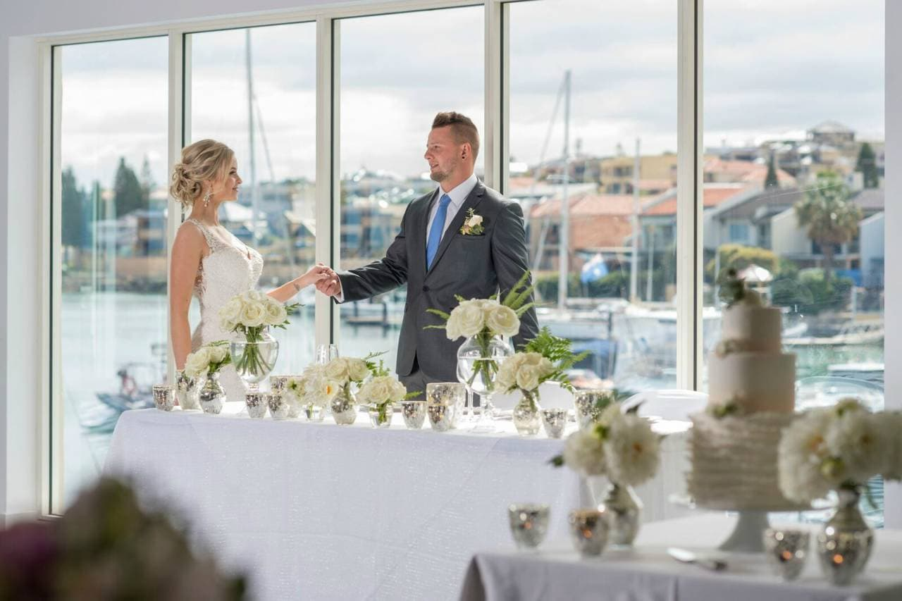 Wedding with water views