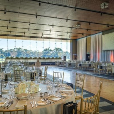 Banquet Style Setup With Dance Floor Inside The Function Room