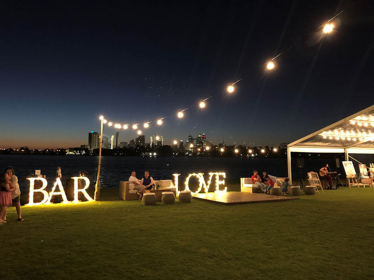 Swan river wedding hire