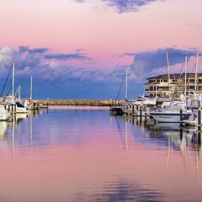 Venue with harbour views