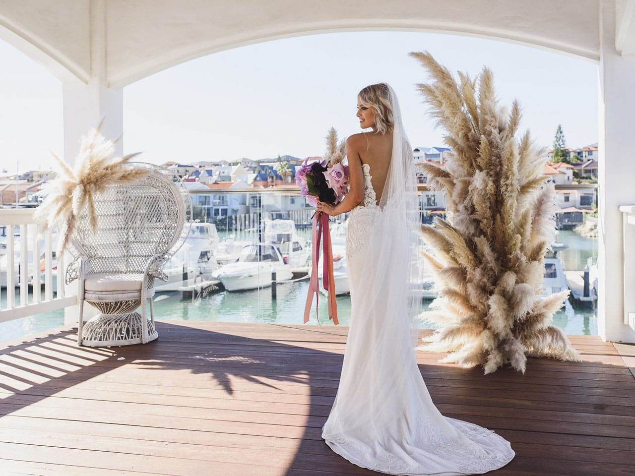 Harbourside wedding
