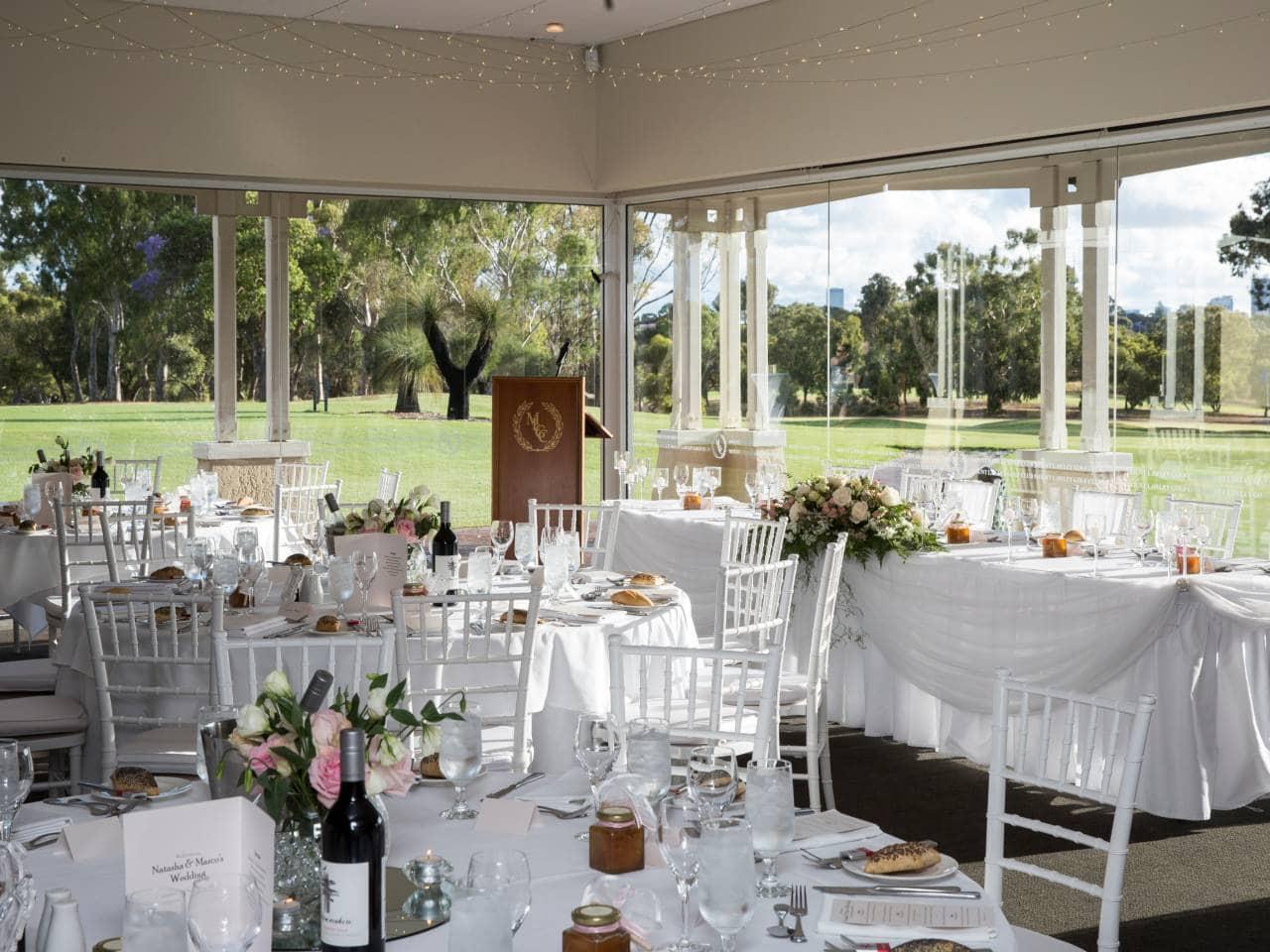 Wedding at golf club