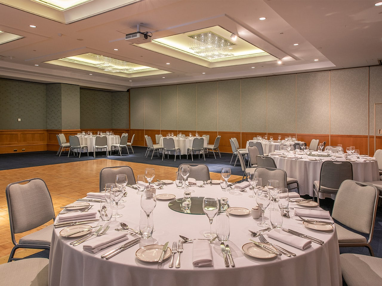 Banquet style function room