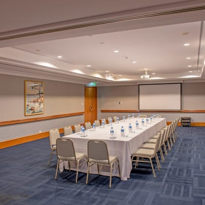 Large meeting room set up