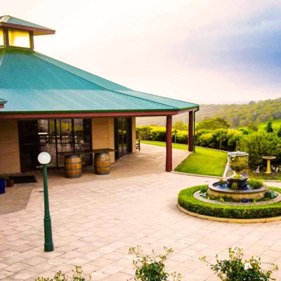 Outside View Of The Function Room With Fountain And Mountain View