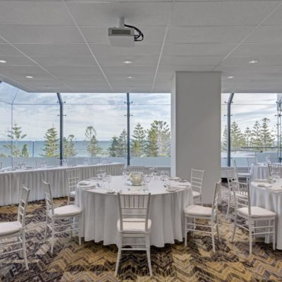 Small venue with ocean views