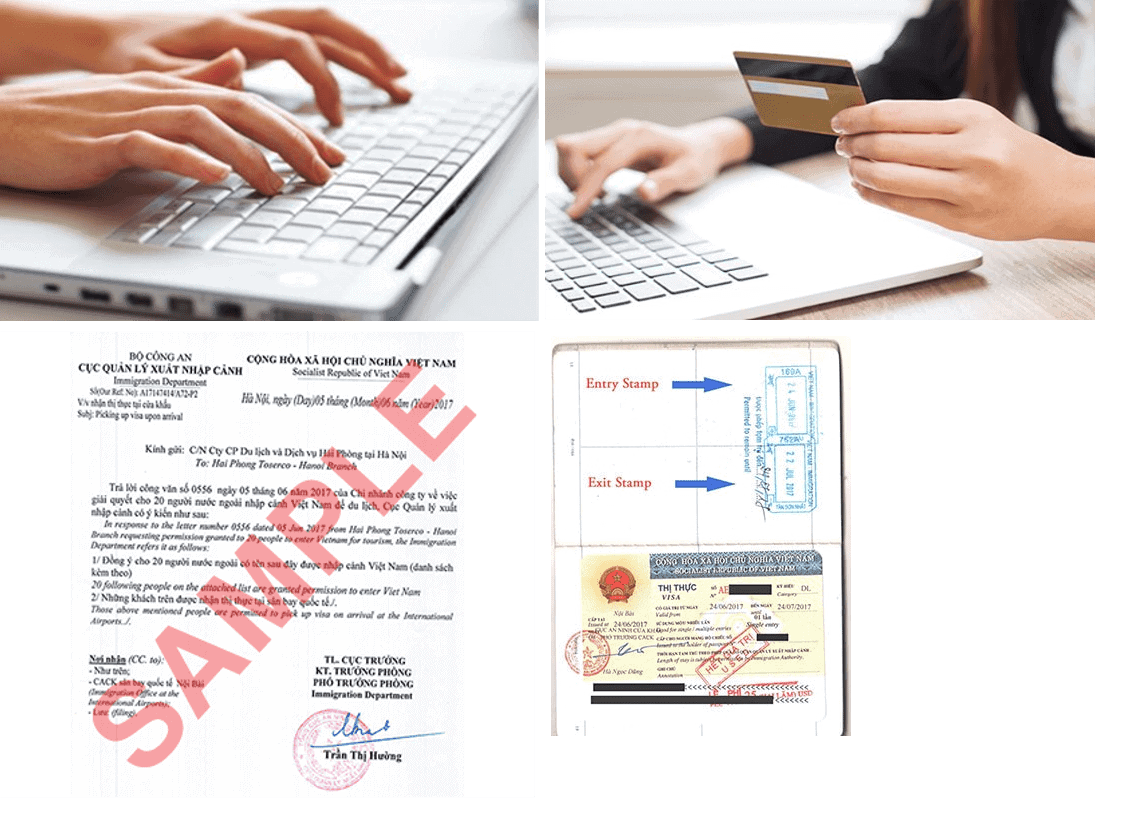 Fill visa application form