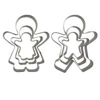 6PCS Cute Funny Gingerbread Boy and Girl Christmas Lebkuchen Cookie Cutter Molds, Like A Family by CSPRING