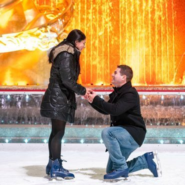 Ice Skating Marriage Proposal at Rockefeller Center