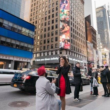 Proposal at Times Square Billboard