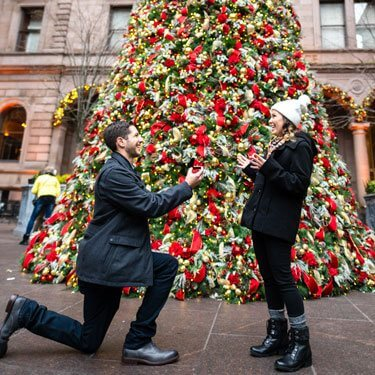 The Lotte Palace Hotel Christmas Tree Wedding Proposal