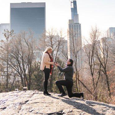 Central Park Wedding proposal