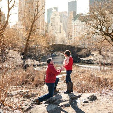 Gapstow bridge Marriage proposal in Central Park