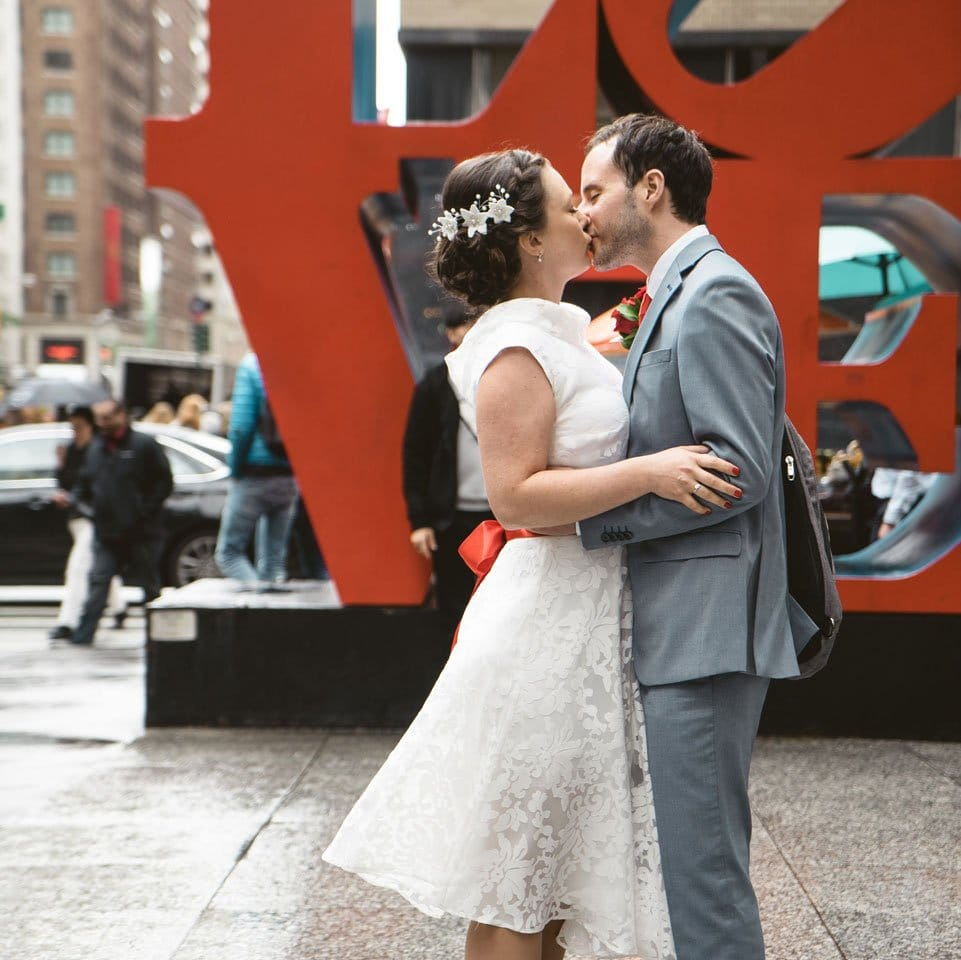 Just married couple in NYC