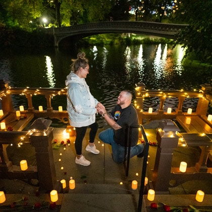 Wood Chip Vantage Point Marriage Proposal
