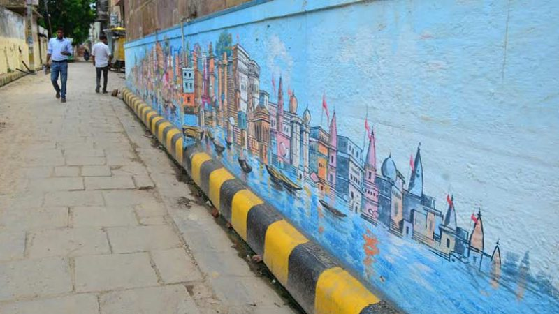 Wall painting in Kashi