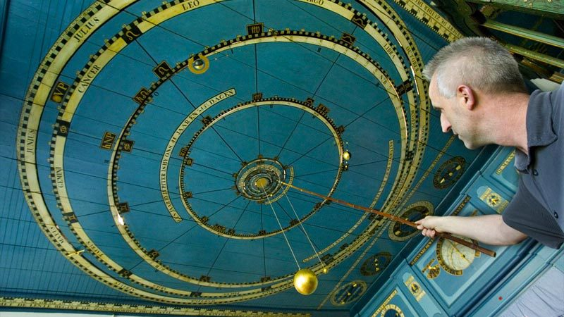 Eisinga Planetarium in Franeker, Holland