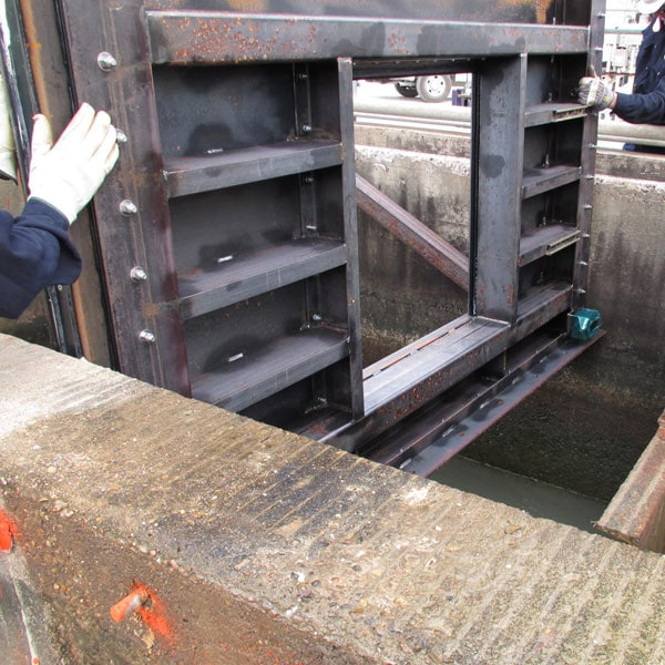 Grant Pass WT Sluice Gate Installation