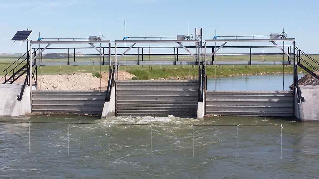 Down Stream View GID Sluice Gates