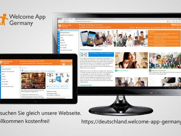 Welcome App as Website-version for Germany is online