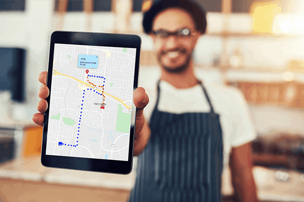 Restaurant delivery mapping platform