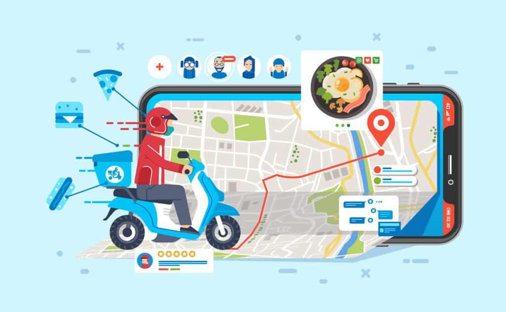 diagram showing complete technology offered utlizing virtual kitchen platforms