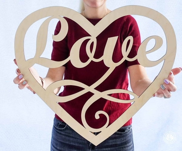 Love Wood sign, Love script word, wooden Love Heart cutout, Wedding photo propsLove Wood sign, Love script word, wooden Love Heart cutout, Wedding photo props