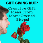 CREATIVE GIFT GIVING IDEAS FROM MOM-OWNED ETSY SHOPS-MAN HOLDING WILTED ROSES