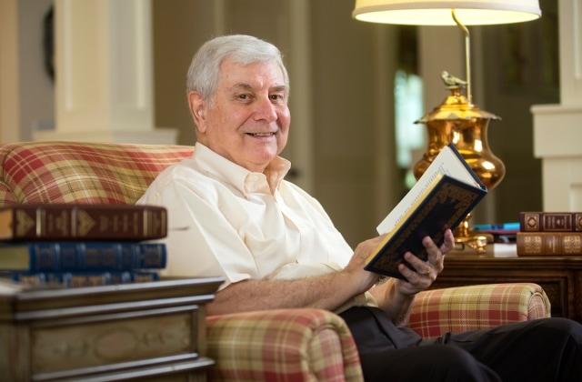 Brenau Trustee David Seng at home in Dahlonega, Georgia in 2014.